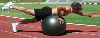 Ron Jones-Stability Ball Superman Pointer